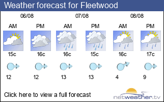 Weather forecast for Fleetwood
