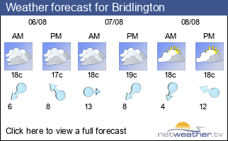 Weather forecast for Bridlington