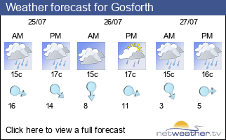 Weather forecast for Gosforth