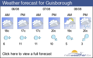 Weather forecast for Guisborough