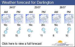 Weather forecast for Darlington