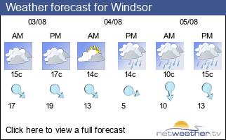 Weather forecast for Windsor