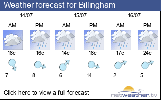 Weather forecast for Billingham