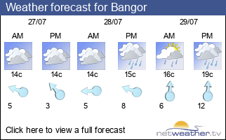 Weather forecast for Bangor