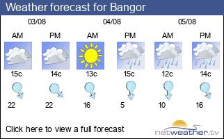 Weather forecast for Bangor