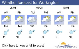 Weather forecast for Workington