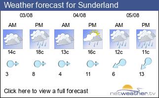 Weather forecast for Sunderland