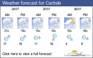 Weather forecast for Carlisle