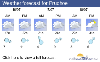 Weather forecast for Prudhoe