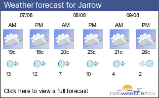 Weather forecast for Jarrow