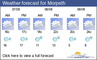 Weather forecast for Morpeth