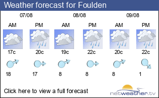 Weather forecast for Foulden