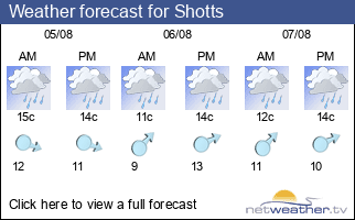 Weather forecast for Shotts