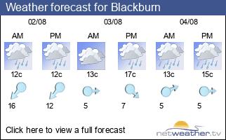 Weather forecast for Blackburn