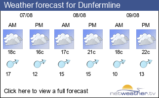 Weather forecast for Dunfermline