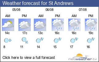 Weather forecast for St Andrews